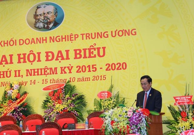 Đồng chí Trần Thanh Khê, Ủy viên Ban Thường vụ, Trưởng Ban Tuyên giáo Đảng ủy Khối DNTW công bố Quyết định vinh danh các công trình trọng điểm.