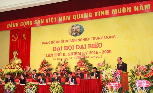 Đồng chí Đặng Hùng Minh, Ủy viên Ban Thường vụ, Chủ nhiệm Ủy ban Kiểm tra Đảng ủy Khối trình bày Báo cáo thẩm tra tư cách đại biểu.