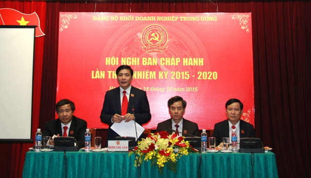 Đoàn Chủ tịch Hội nghị lần thứ I Ban Chấp hành Đảng bộ Khối nhiệm kỳ 2015 - 2020.