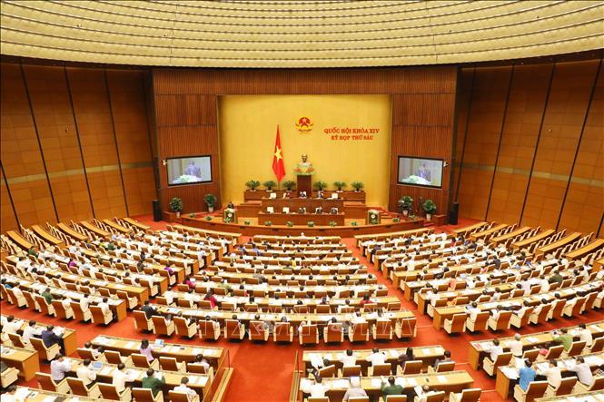 Toàn cảnh Phiên khai mạc Kỳ họp thứ sáu, Quốc hội khóa XIV.