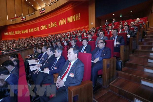 Đoàn đại biểu Đảng bộ Khối các cơ quan Trung ương dự Đại hội. (Ảnh: TTXVN)