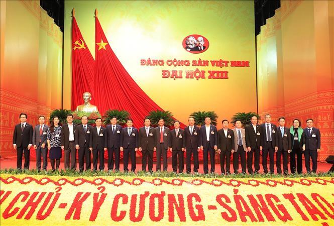 Đoàn đại biểu Đảng bộ Khối Doanh nghiệp Trung ương dự Đại hội.